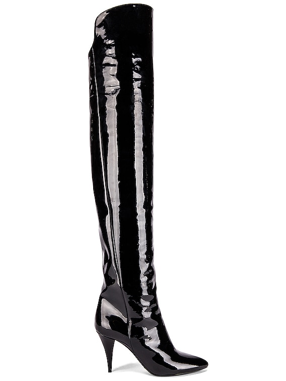 Kiki Over the Knee Boots in Black