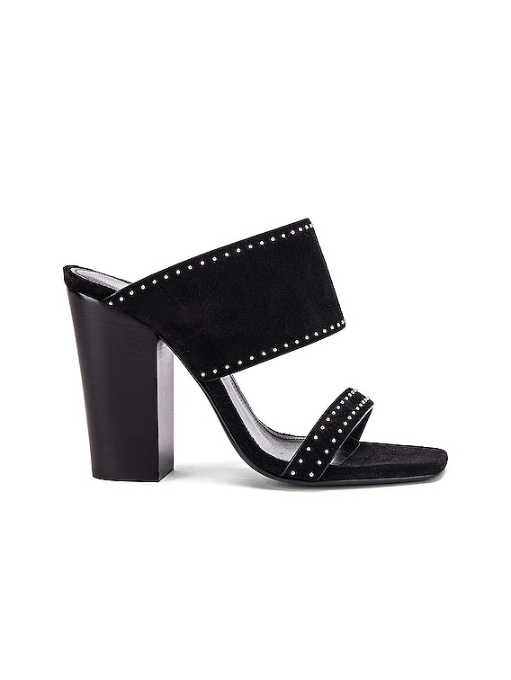 Oak Stud Sandals in Black