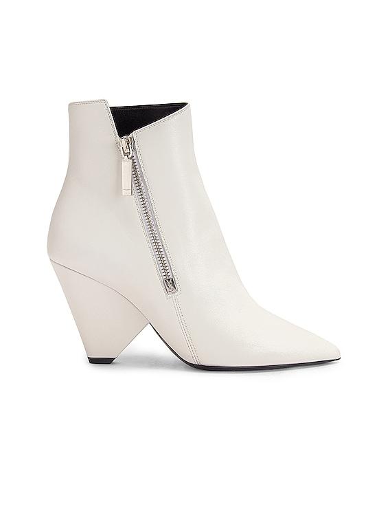 Niki Zip Booties in White