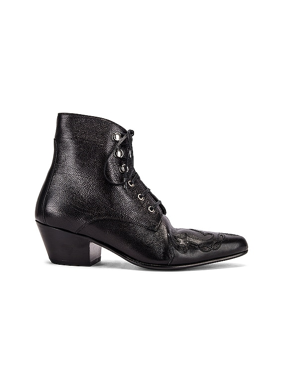 Rebecca Lace Up Booties in Black