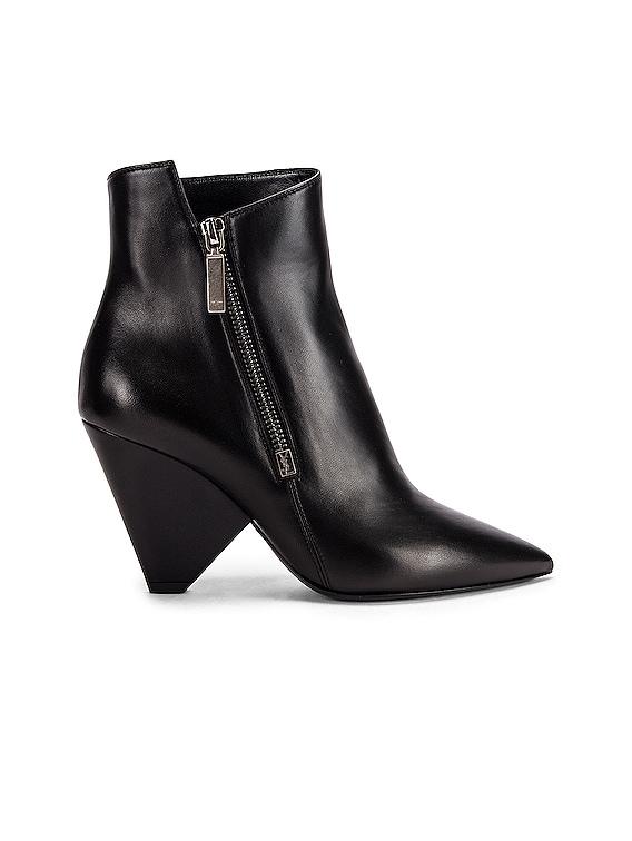 Niki Zip Booties in Black