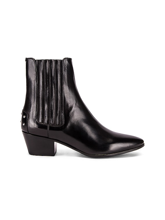 West Leather Chelsea Boots in Black