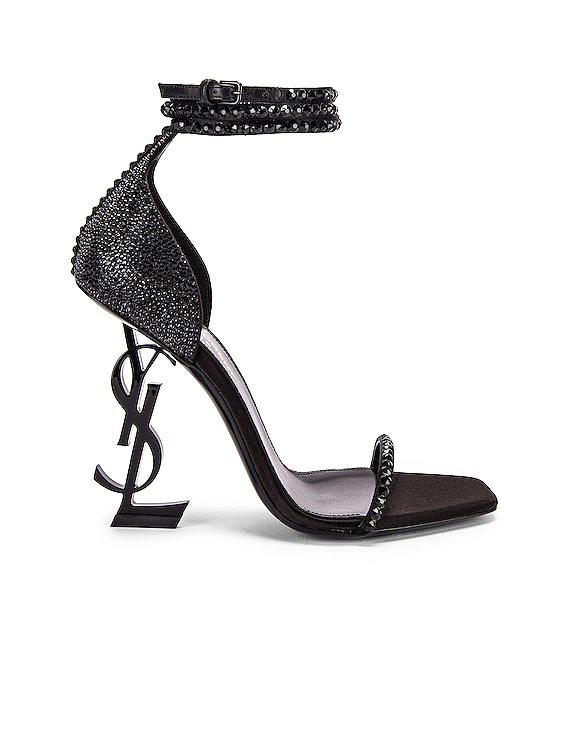 Swarovski Opyum Double Ankle Strap Sandals in Black