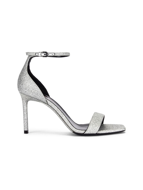 Amber Ankle Strap Sandals in Argent