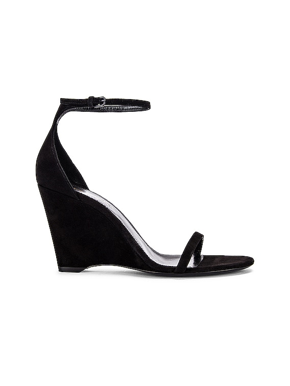 Lila Wedge Sandals in Black