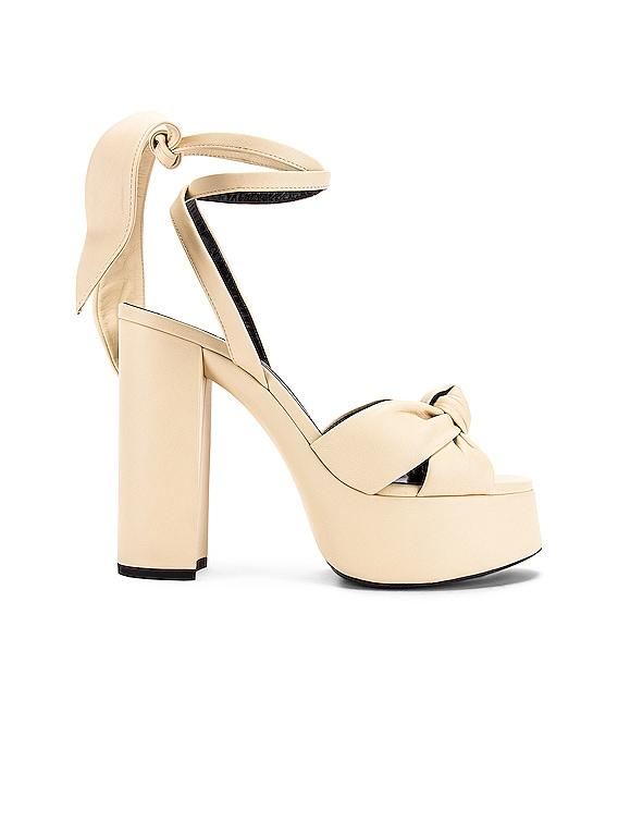 Bianca Platform Sandals in Light Cream