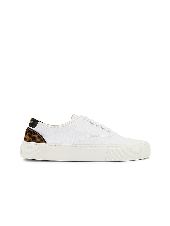Venice Low Top Sneakers in White & Manto Naturale