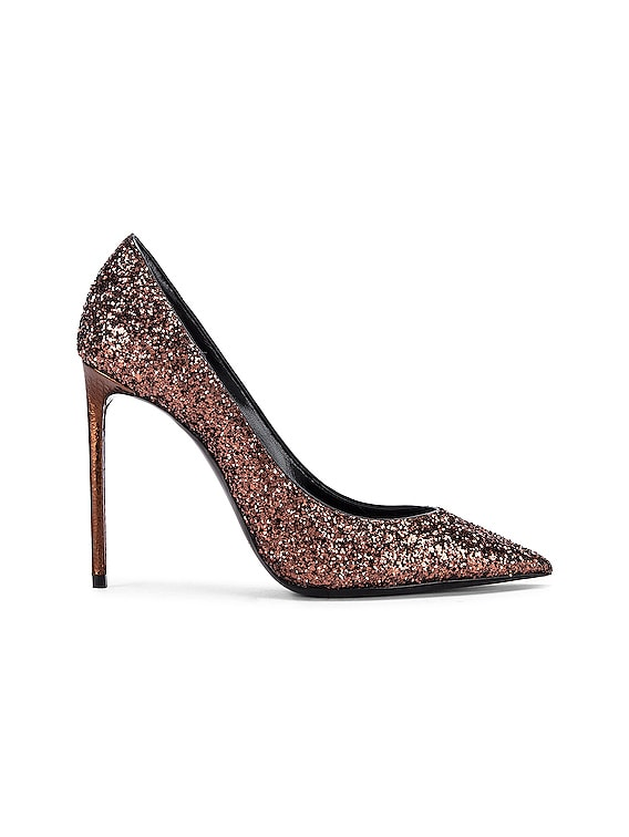 Zoe Glitter Pumps in Bronze