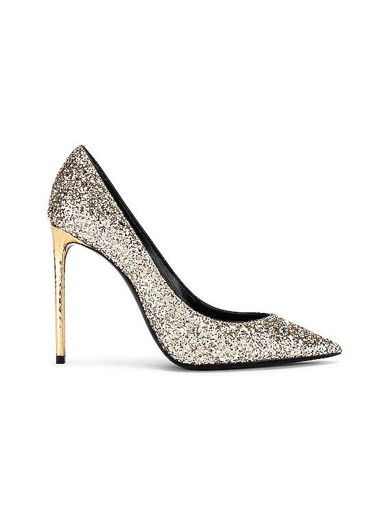 Zoe Glitter Heels in Gold