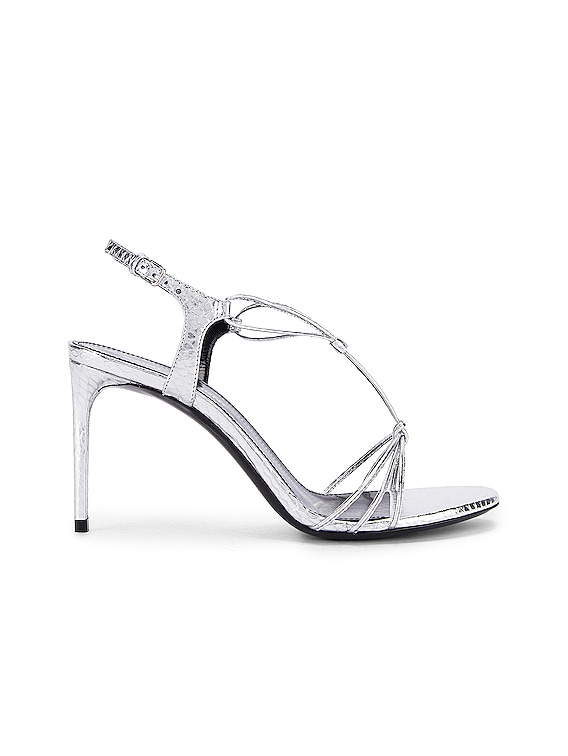 Robin Lace Sandals in Silver