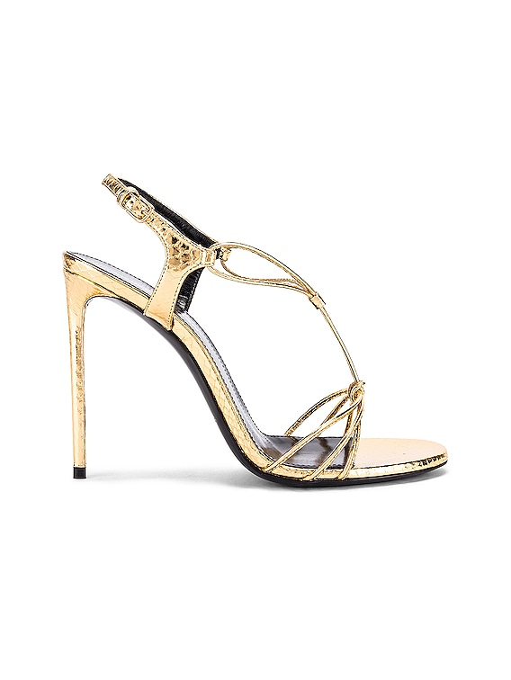 Robin Lace Sandals in Gold