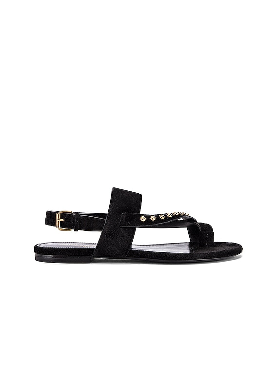 Gia Stud Sandals in Black