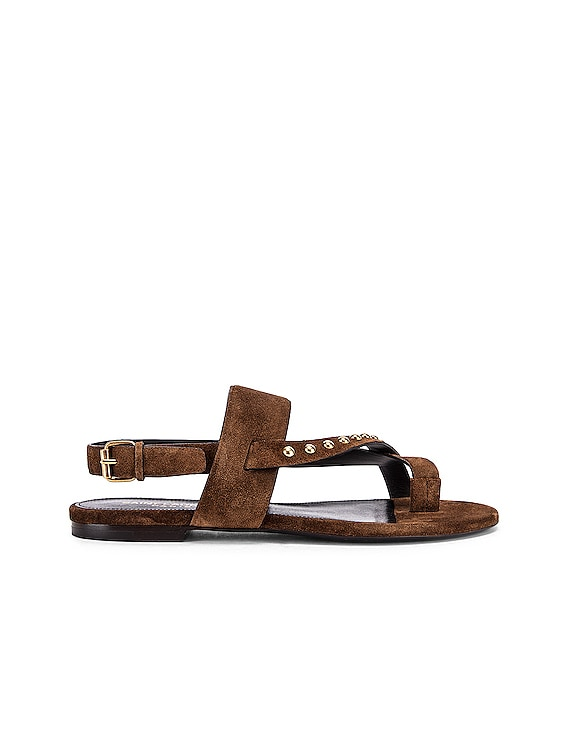 Gia Stud Sandals in Land