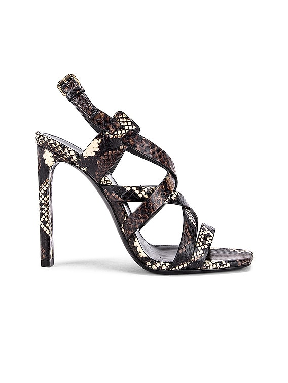 Bea Ankle Strap Sandals in Brown