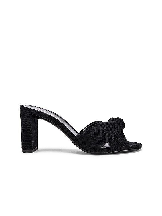 Loulou Mule Sandals in Nero