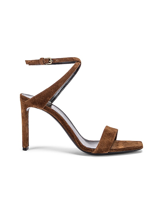 Bea Bow Ankle Strap Sandals in Land