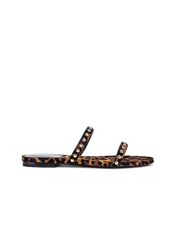 Gia Stud Sandals in Manto Naturale