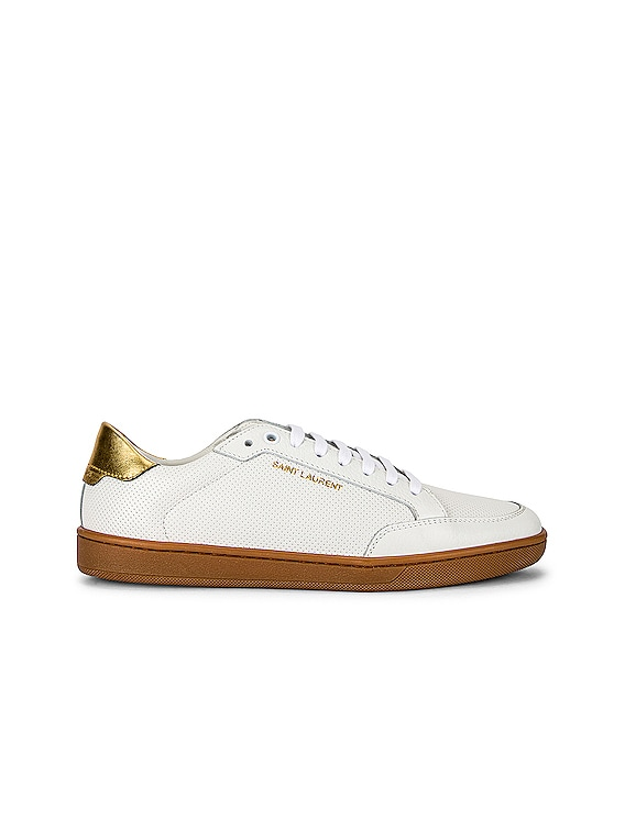 Court Classic Sneakers in Blanc Optique & Gold