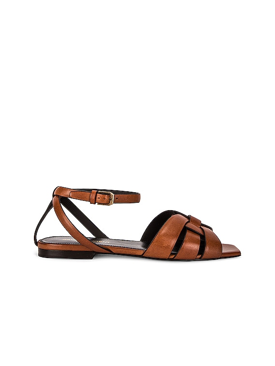 Tribute Nu Pieds Sandals in Caramel