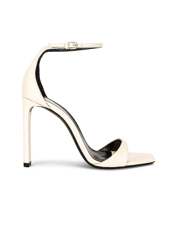 Bea Ankle Strap Sandals in Pearl