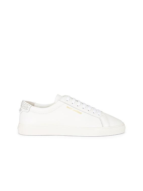 Andy Low Top Stud Sneakers in Blanc Optique