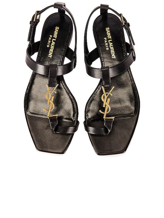Cassandra Flat Sandals in Nero
