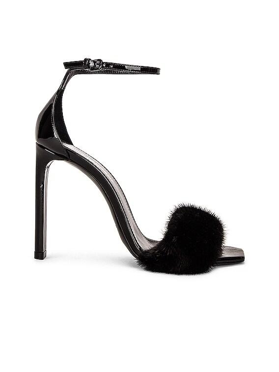 Bea Ankle Strap Sandals in Nero & Nero