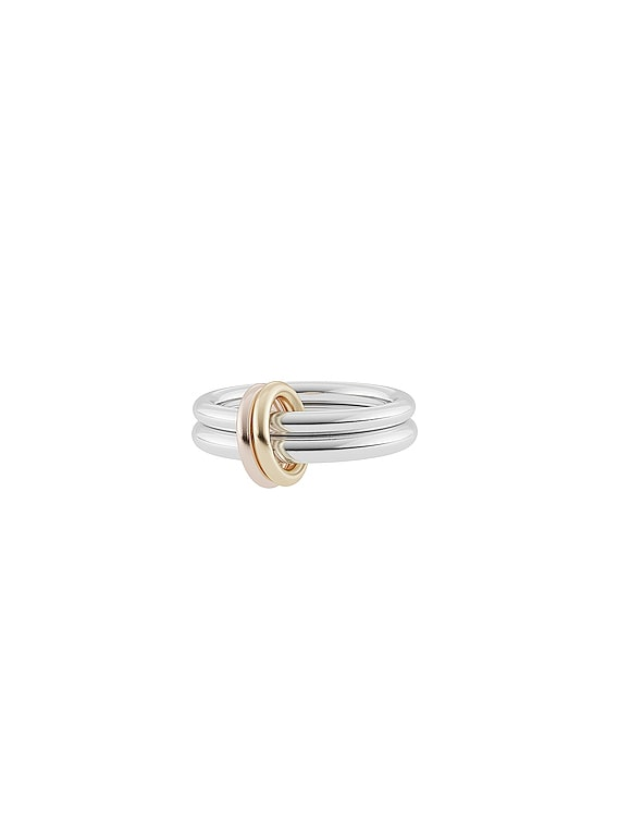 Calliope Ring in Sterling Silver & 18K Yellow Gold & 18K Rose Gold