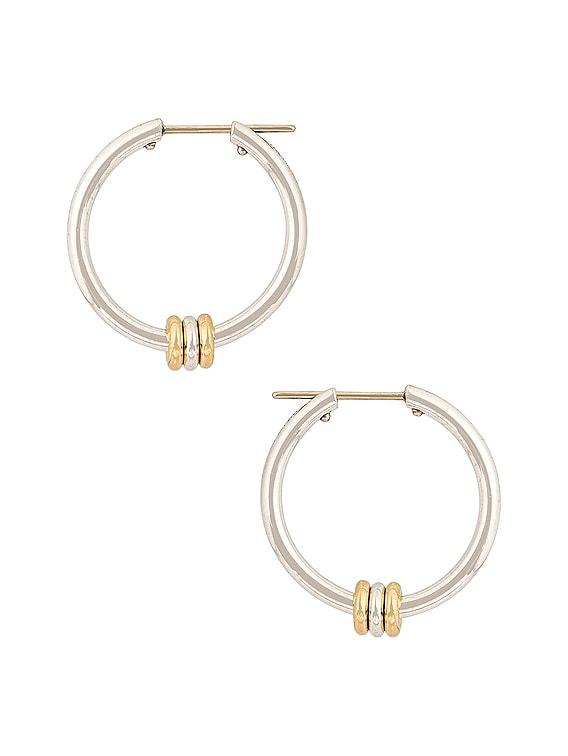 Argo SG Earrings in Sterling Silver & 18K Yellow Gold