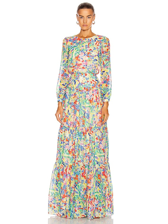 Isabel Long Dress in Summer Confetti