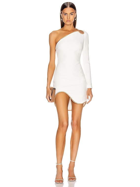 Dianna One Shoulder Mini Dress in White