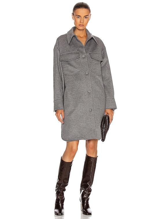 Kerry Coat Dress in Light Grey Melange