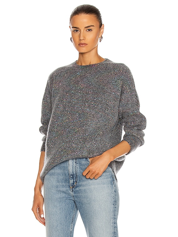 Sequin Sweater in Charcoal