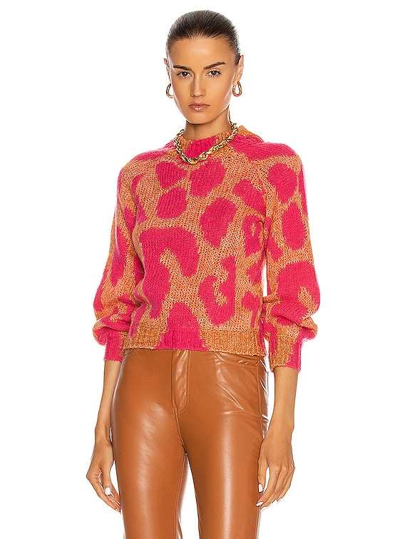 Big Leopard Sweater in Amber