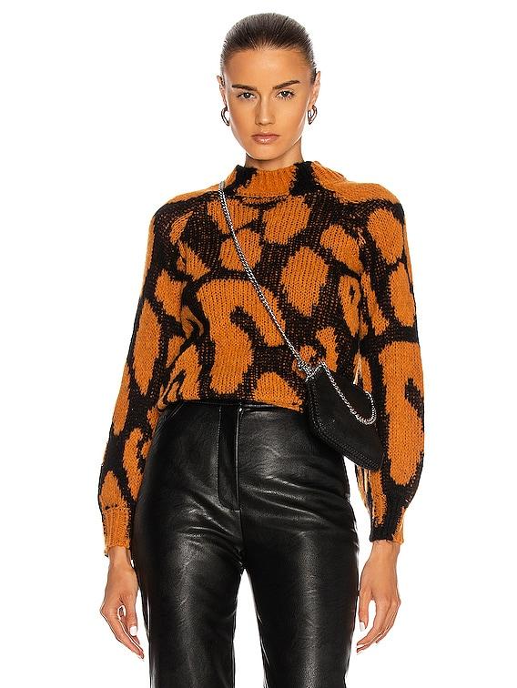 Big Leopard Sweater in Black