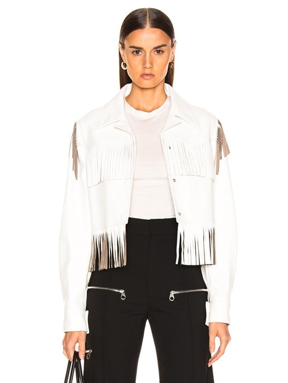 Fringe Jacket in White