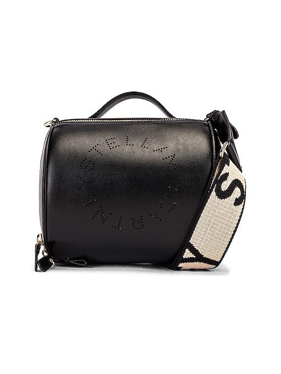 Small Zip Around Shoulder Bag in Black