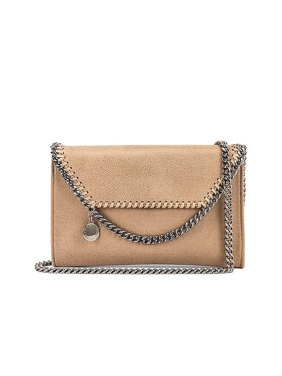 Mini Falabella Shaggy Deer Crossbody Bag in Butter Cream