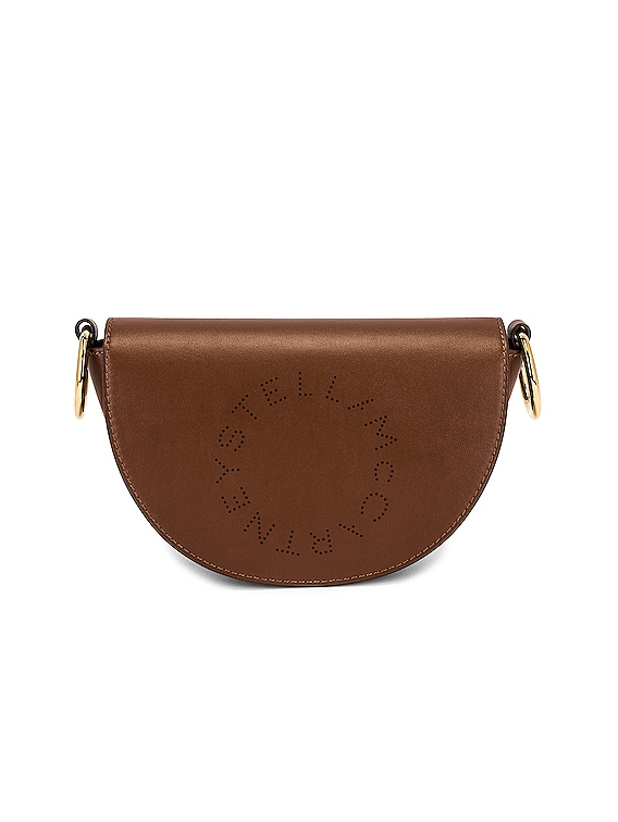 Mini Leather Flap Shoulder Bag in Cinnamon