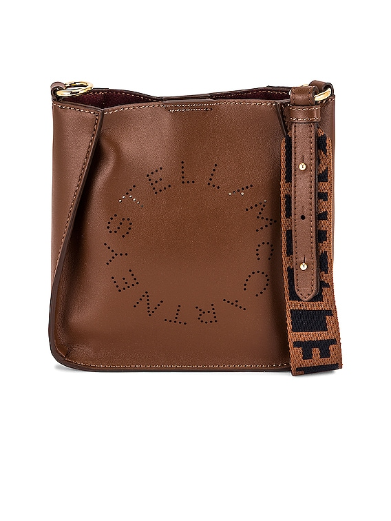 Tiny Eco Soft Logo Crossbody Bag in Cinnamon