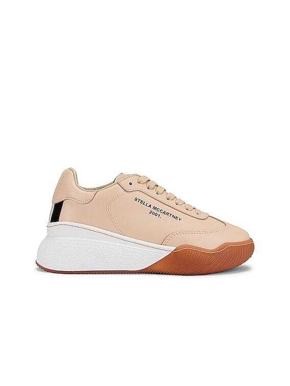 Runner Loop Sneakers in Beige & White