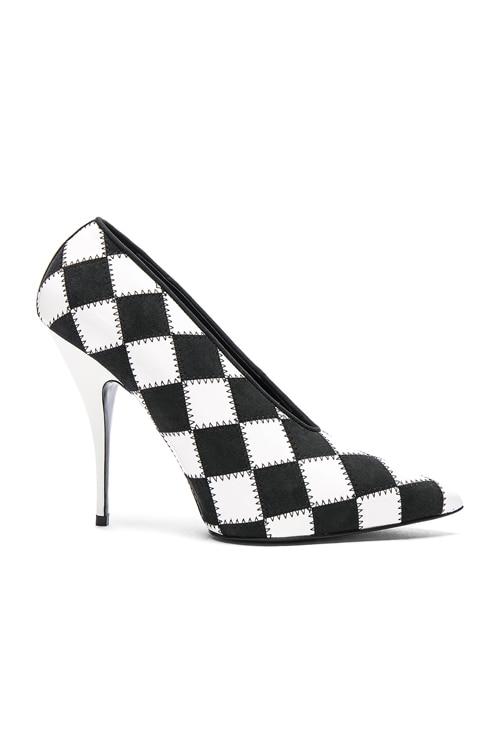 Stella McCartney Checkered Print Heels