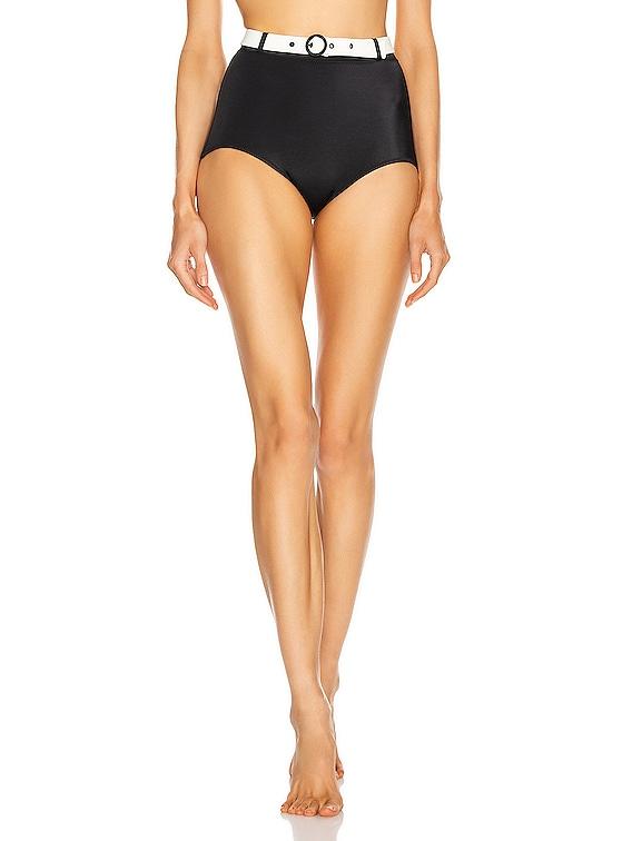 Jean Bikini Bottom in Black