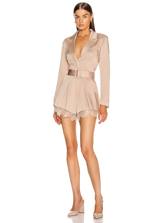 Viscose Playsuit in Taupe