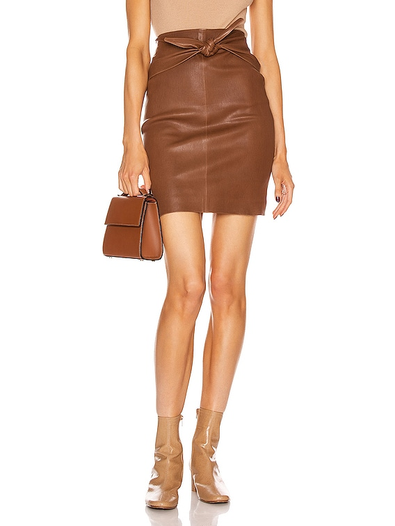 Knot Skirt in Cocoa