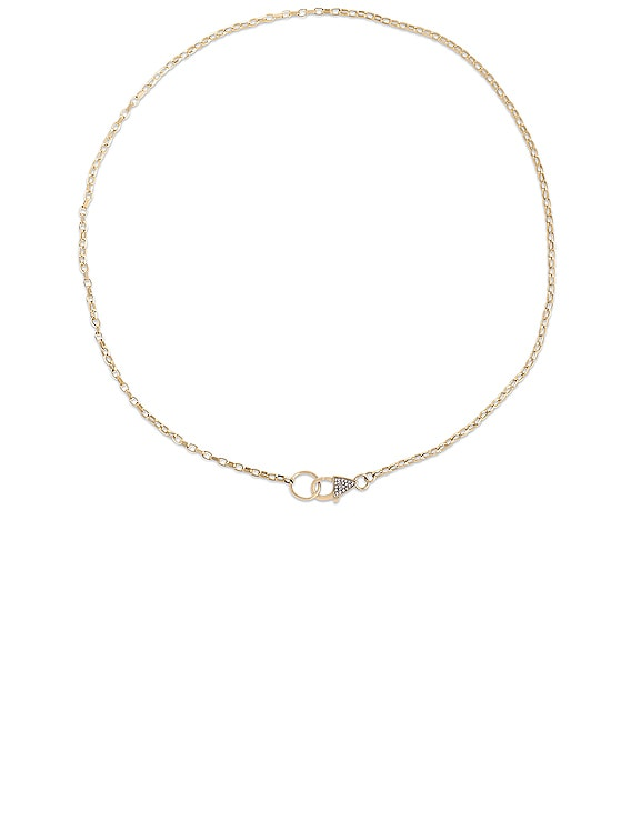 Luxe Diamond Chain Lariat Necklace in Gold & Diamond