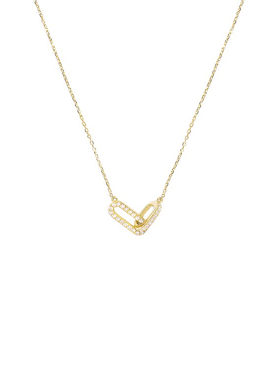 Diamond Linked Up Necklace in Gold & White