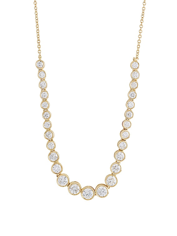 Let It Slide Diamond Tennis Necklace in Gold & Diamond
