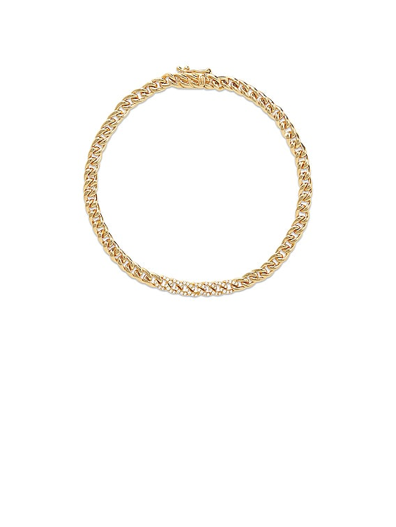 Diamond Accent Chunky Chain Bracelet in Gold & Diamond
