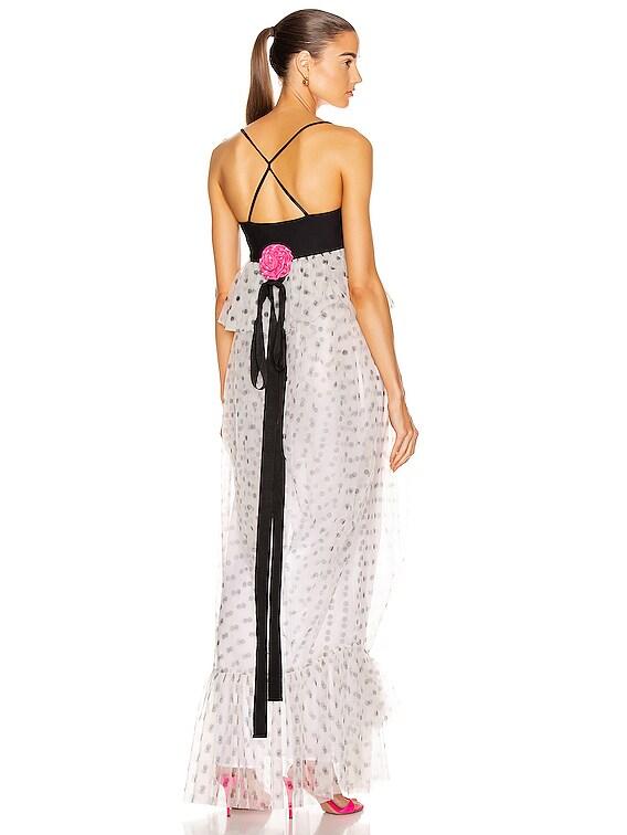 Petunia Dress in White Dot